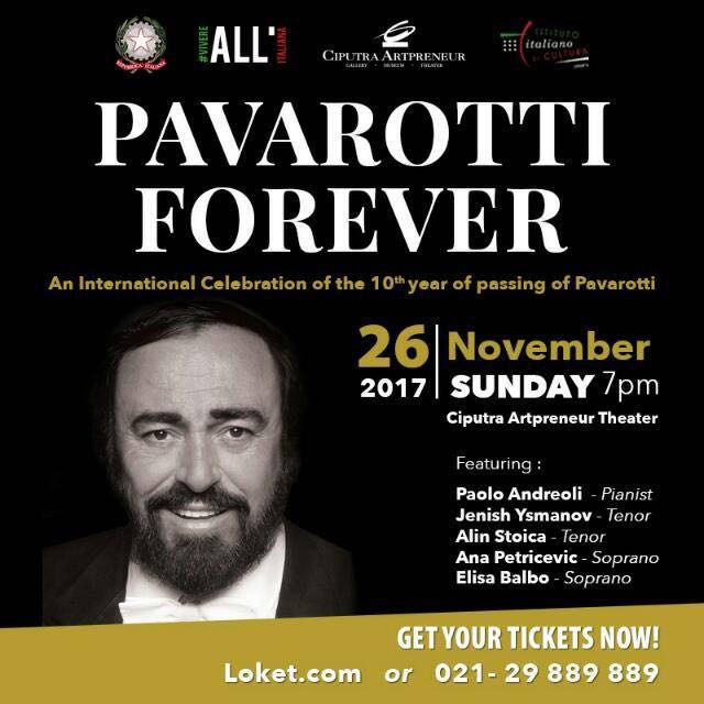 PAVAROTTI FOREVER In Indonesia