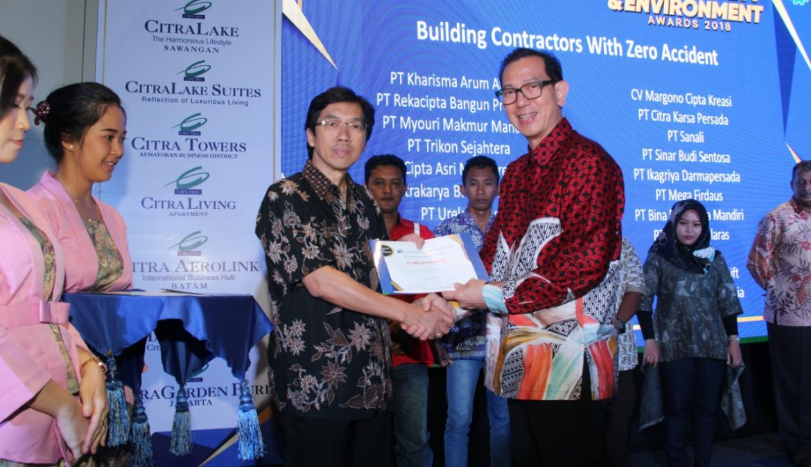 4th HSE Awards 2018 Tahap Pendewasaan Budaya Health, Safety & Environment PT Ciputra Residence