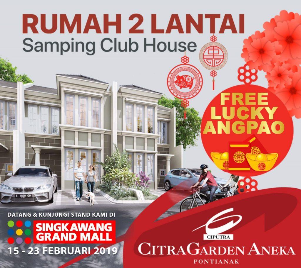 Lucky Angpao Ramaikan Cap Go Meh Singkawang - Rumah 2 lantai samping Club House