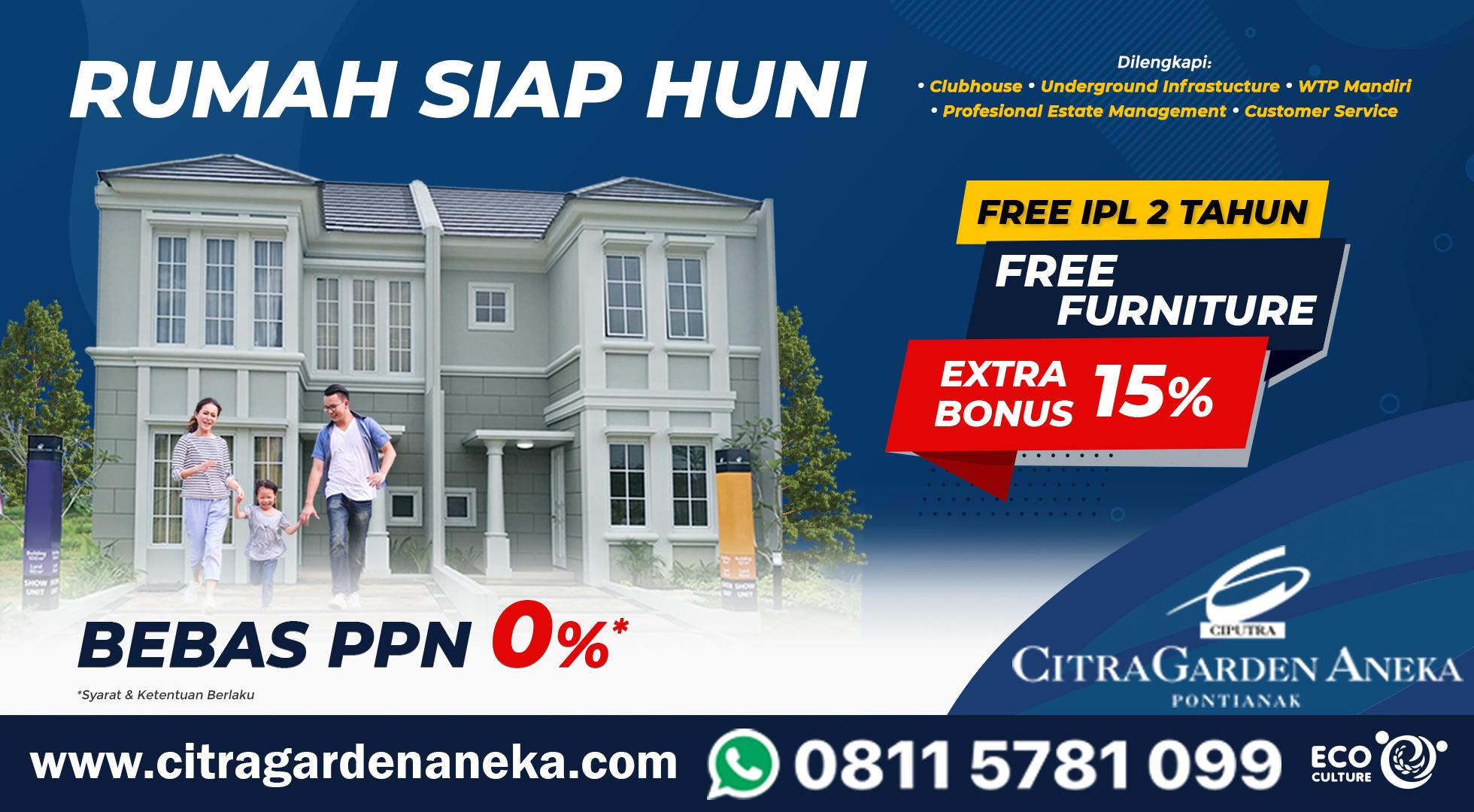 Kapan lagi punya rumah dengan insentif bebas PPn alias PPN =0% ?